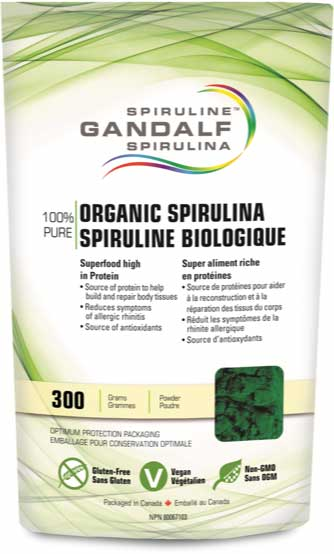 Gandalf Organic Spirulina Powder 300